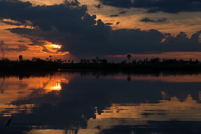 Okavango Sunset.