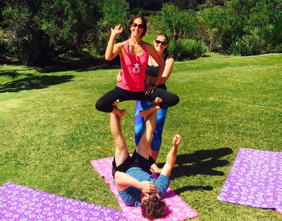 Enjoy yoga with a loved one!