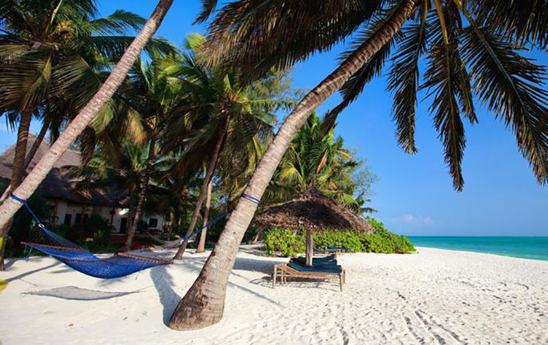 white sand beach tanzania